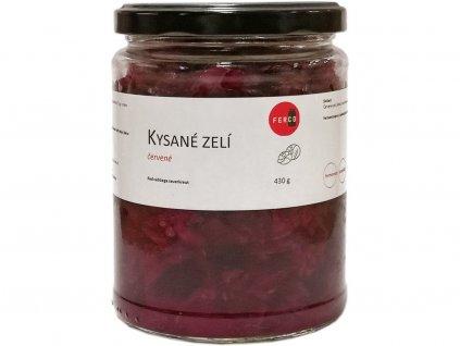 Kysané zelí červenené 430g sklenička