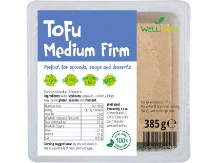 Tofu medium firm 385g Well Well