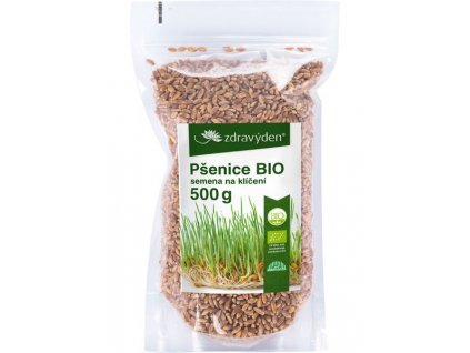 Pšenice BIO – semena na klíčení 500g Zdravý den