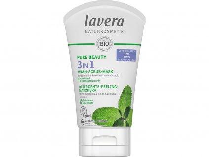 Lavera Pure Beauty Čistící gel, peeling a maska 3v1 125 ml Lavera
