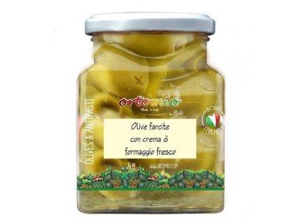 Ortomio Olivy plněné krémem Parmigiano, 314 ml