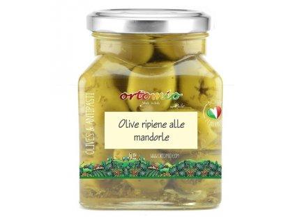Ortomio Olivy plněné mandlemi, 314 ml