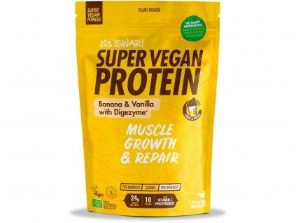 Bio Super Vegan Protein Banán - Vanilka 350g Iswari