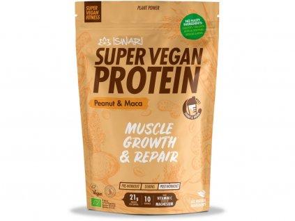 Bio Super Vegan Protein Arašídy - Maca 350g Iswari