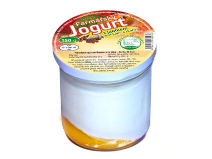 farmarsky jogurt s jablky hrozinky skorici 150g