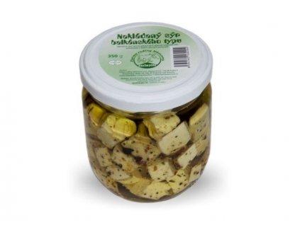 nakladane syrove kostky v oleji 350g ve skle