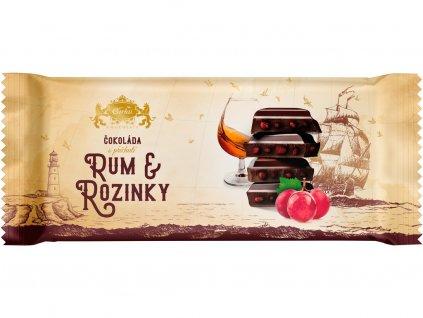 Tabulková čokoláda Rozinky a Rum 200g Carla
