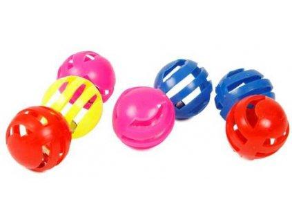 AKCE Set balónků pro kočky s rolničkou 3 cm (7 ks)