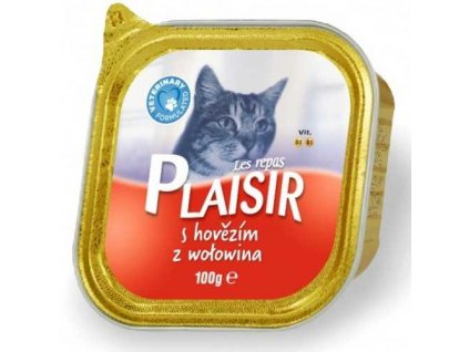AKCE Plaisir Cat hovězí, vanička 100 g