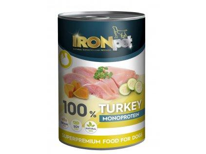 AKCE IRONpet TURKEY 100% Monoprotein 400g Krůta, konzerva-(Balení 6 kusů)