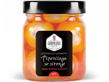 AKCE Gurmano Oranžové papričky plněné sýrem HOT palivé, 290g