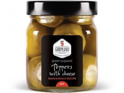 AKCE Gurmano Zelené papričky plněné sýrem HOT palivé, 290g