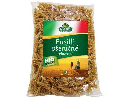 AKCE Fusilli pšeničné celozrnné 500 g BIO BIOLINIE