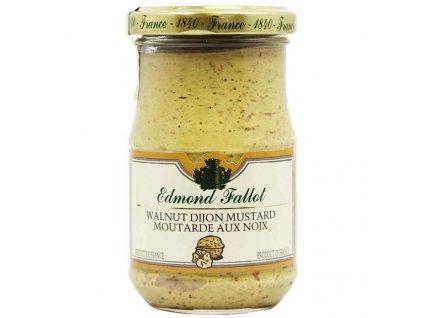 Edmond Fallot Dijonská hořčice s vlašskými ořechy 210g - sklo