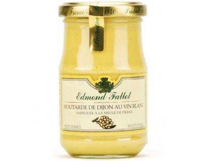 Edmond Fallot Dijonská hořčice na bílém víně, 210g - sklo