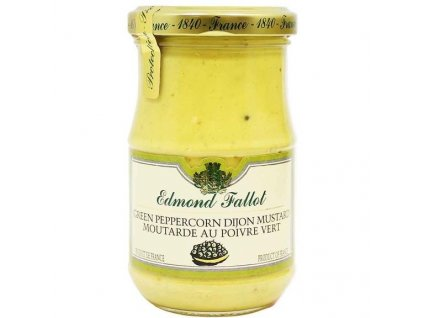 Edmond Fallot Dijonská hořčice se zeleným pepřem, 210g - sklo