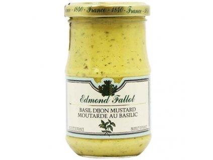 Edmond Fallot Dijonská hořčice s bazalkou jemná 205g - sklo