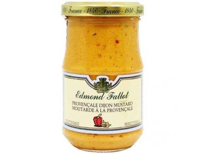 Edmond Fallot Dijonská hořčice s provensalským kořením, 210g - sklo