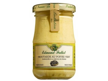Edmond Fallot Dijonská hořčice se zeleným pepřem, 105g - sklo