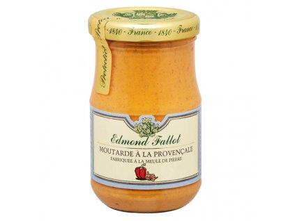 Edmond Fallot Dijonská hořčice s provensálským kořením, 105g - sklo