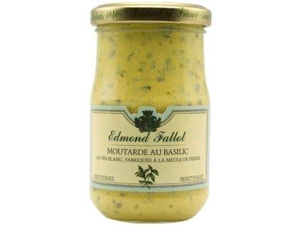 Edmond Fallot Dijonská hořčice s bazalkou jemná 105g - sklo