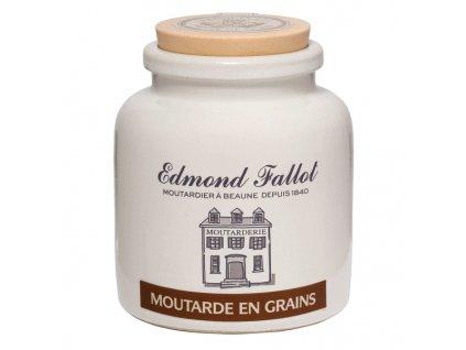 Edmond Fallot Dijonská hořčice na bílém víně, 105g - keramika