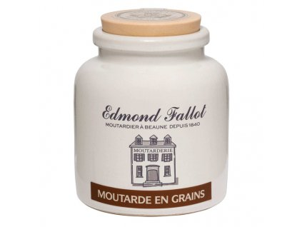 Edmond Fallot Hrubozrnná hořčice na bílém víně, 105g - keramika