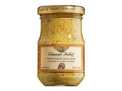 Edmond Fallot Dijonská hořčice s vlašskými ořechy 105g - sklo