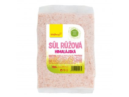 AKCE Himalájská sůl růžová jemná 700 g Wolfberry v sáčku