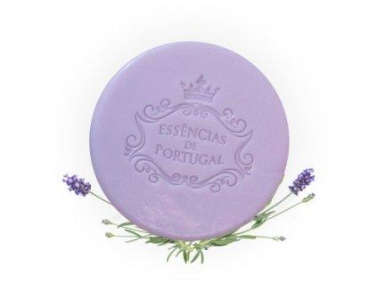 LEVANDULE - přírodní kulaté mýdlo v papírové krabičce, 50g