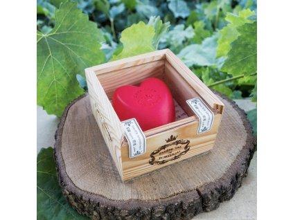 LÁSKA - SPECIÁLNÍ EDICE, přírodní mýdlo v ručně vyrobené dřevěné krabičce,