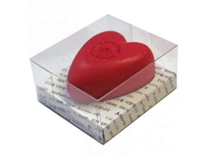 LÁSKA - přírodní mýdlo v průhledné krabičce, 150g