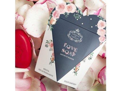 LÁSKA - LIMITOVANÁ EDICE, přírodní mýdlo v krabičce s růžemi, 150g