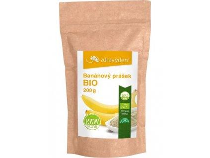 Banánový prášek BIO 200g Zdravý den