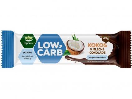 Tyčinka Low carb kokos v čokoládě 40g Topnatur