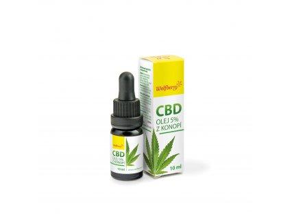 CBD 5% Konopný olej 10 ml Wolfberry