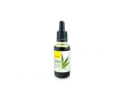 CBD 5% Konopný olej 30 ml Wolfberry