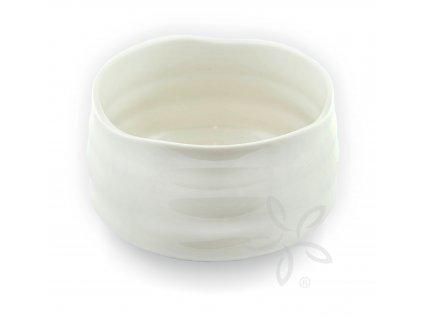 Miska Čavan na Matcha čaj Wolfberry/bílá