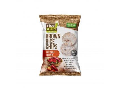Celozrnné rýžové chipsy chilli papričky 60 g Rice Up