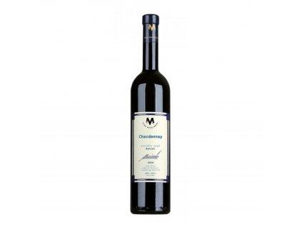 Chardonnay víno výběr z bobulí polosladké 2015 BIO 0,75l vinařství Marcinčák