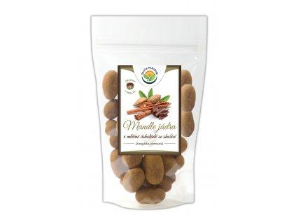 AKCE Mandle v mléčné čokoládě se skořicí 300g Salvia Paradise