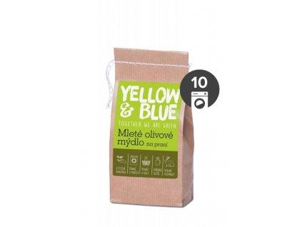 AKCE Yellow&Blue Mleté olivové mýdlo na praní (200 g) - i pro nejjemnější prádlo