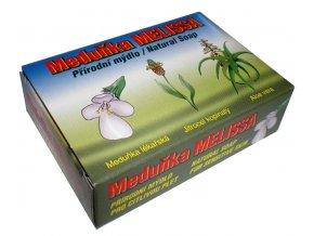 MEDUŇKA – MELISSA  mýdlo s obsahem Meduňky, Jitrocele  a Aloe vera 90g