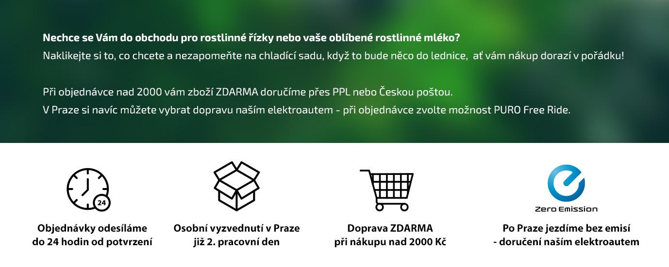 Silné stránky eshopu PURO shop v přehledné formě pro zákazníky.