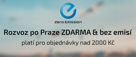 PURO shop rozváží po Praze zdarma nad 2000 Kč, a to bez emisí