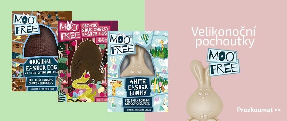 Velikonoční nabídka veganských čokolád od Moo-free a zcela bez alergenů