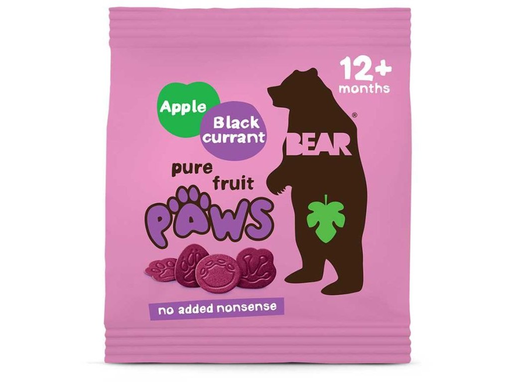 Bear tlapky s jablkem a černým rybízem