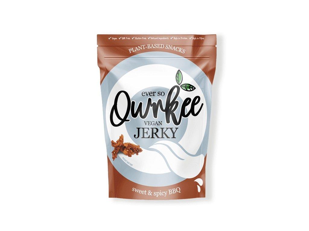 Qwrkee vegan jerky sweet & spicy bbq