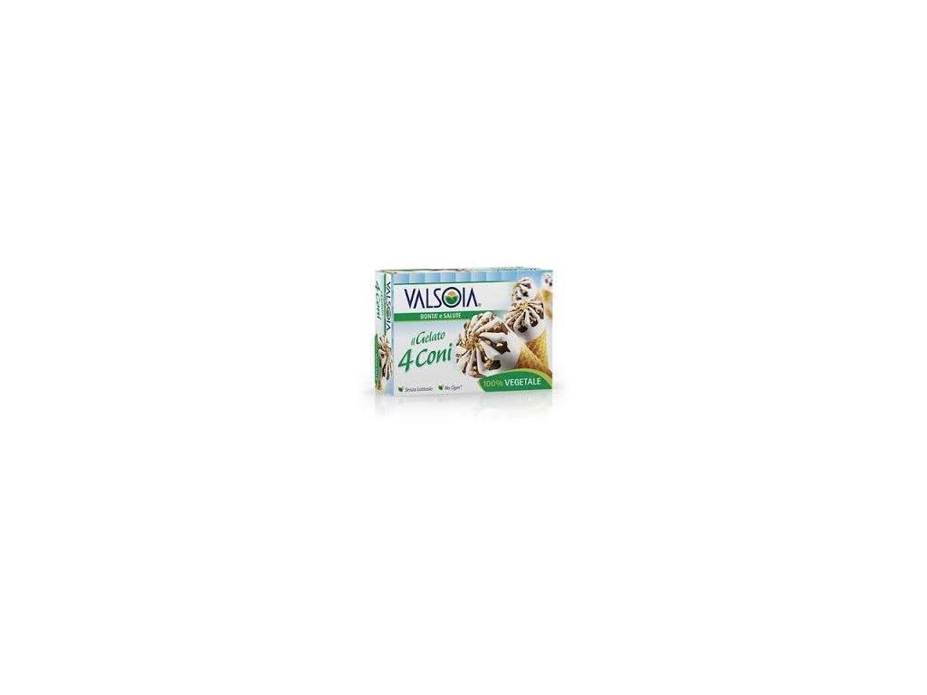 Valsoia zmrzlinové kornoutky (4 ks)