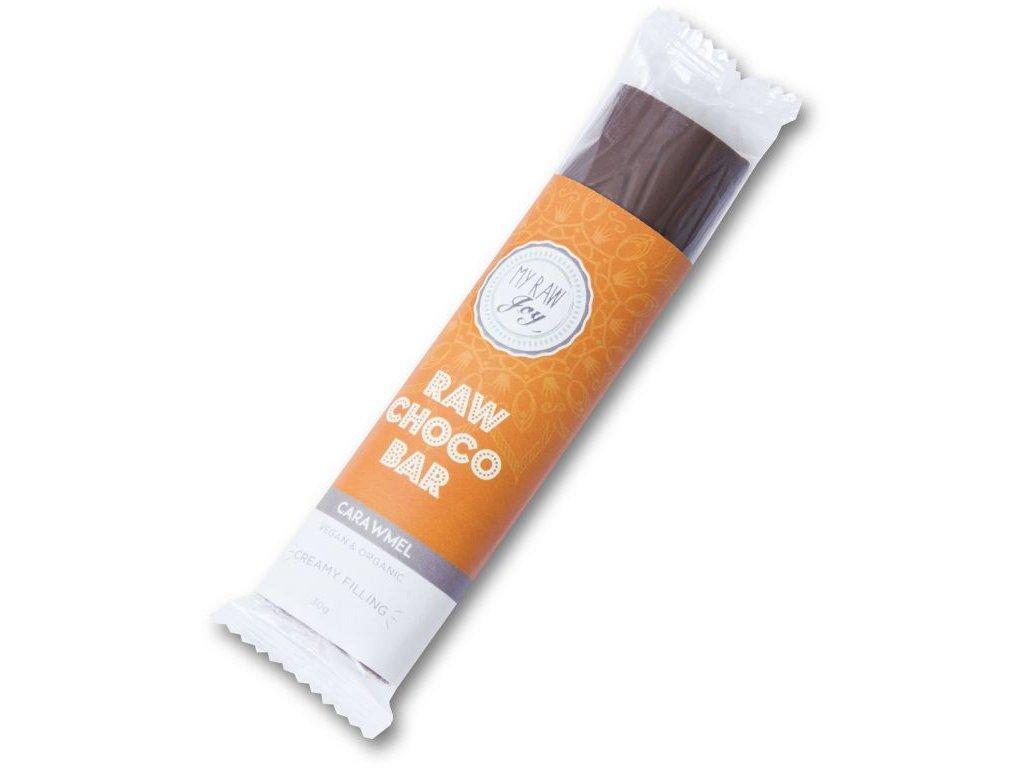 Raw čokoládová tyčinka s karamelem, Bio